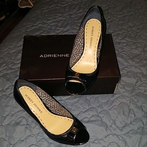 Adrienne Vittadini peep toe wedges